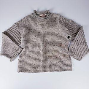 Irish Homecraft Naturally Oiled Wool Sweater Large